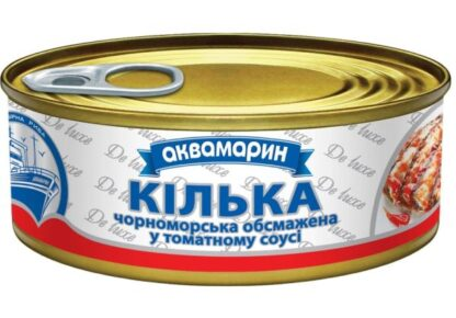 Кілька АКВАМАРИН чорноморська обсмажена у томатному соусі 0.230 кг, пак
