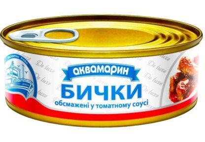 Бички АКВАМАРИН обсмажені у томатному соусі 0.230 кг, пак