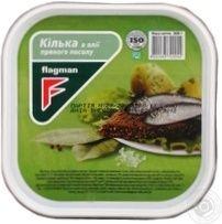Кілька Flagman балтійська пряного посолу в олії (без голови) 0.300 кг, пак