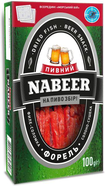 Форель NABEER філе-соломка солоно-сушена 0.100 кг, пак