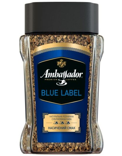 Кава Ambassador розчинна Blue Label с/б 0.095 кг, пак