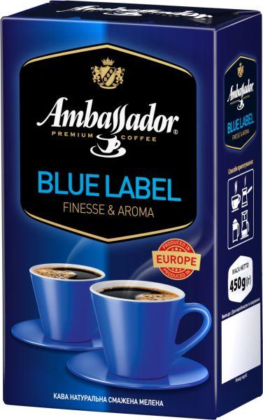 Кава Ambassador мелена Blue Label в/у 0.450 кг, пак