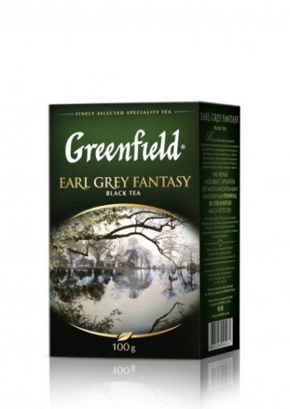 Чай Greenfield чорний Earl Grey Fantasy 0.100 кг, пак