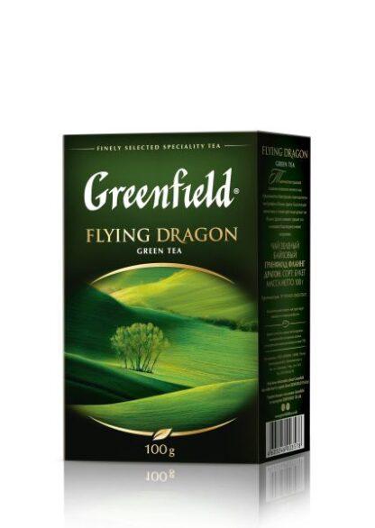 Чай Greenfield зелений Flying Dragon 0.100 кг, пак