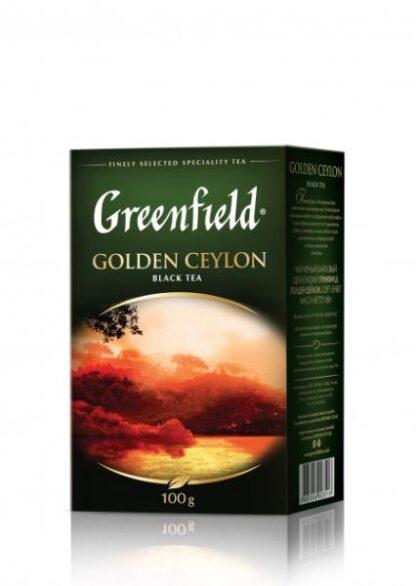Чай Greenfield чорний Golden Ceylon 0.100 кг, пак