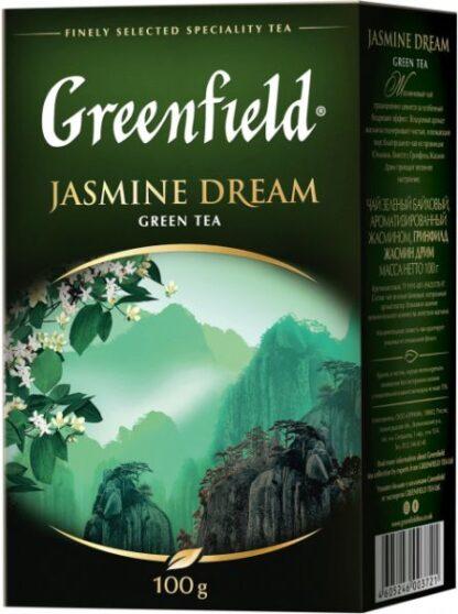 Чай Greenfield зелений Jasmine Dream 0.100 кг, пак