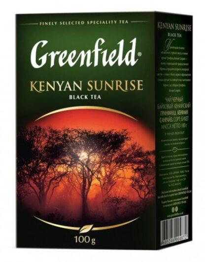 Чай Greenfield чорний Kenyan Sunrise 0.100 кг, пак