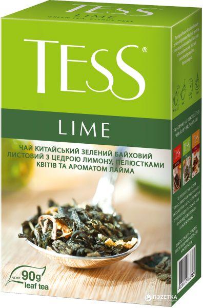 Чай TESS зелений Lime 0.090 кг, пак