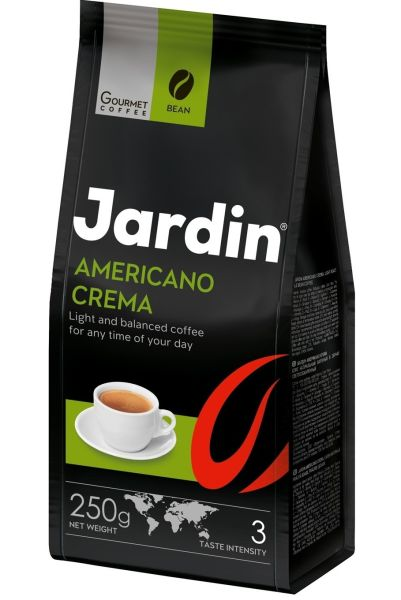 Кава JARDIN Americano Crema смаж. в зернах 0.250 кг, пак