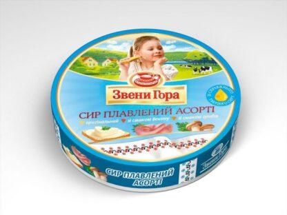 Сир плавлений порційний Звени Гора Асорті 0.140 кг, пак