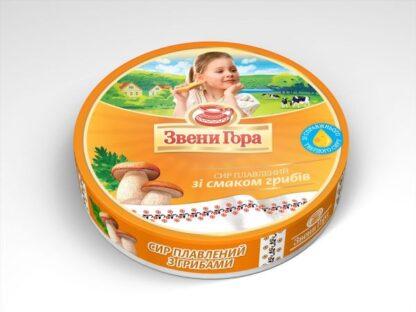 Сир плавлений порційний Звени Гора Гриби 0.140 кг, пак