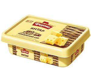 Сир плавлений пастоподібний ФЕРМА ЯНТАР 60% пластик. короб 0.180 кг, пак
