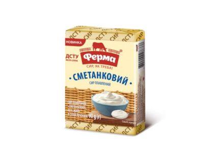 Сир плавлений ФЕРМА Сметанковий 55% у фользі 0.090 кг, пак