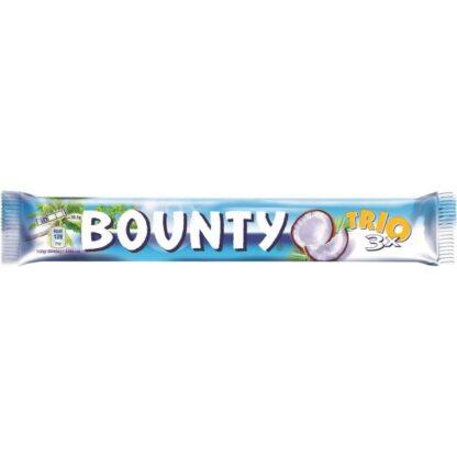 Батончик Bounty Trio в молочно-шоколадній глазурі з кокосовою начинкою 0.085 кг, пак