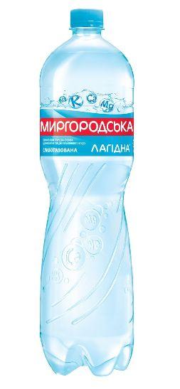 Вода мінеральна Миргородська лагідна слабогазована ПЕТ 1.500 л., пак