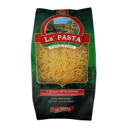 Макарони La Pasta вермішель 0.400 кг, пак