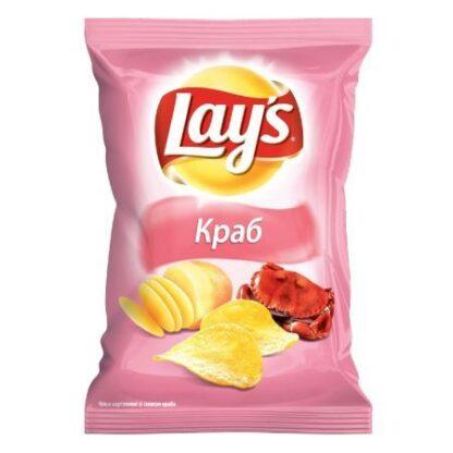 Чипси Lay's зі смаком краба 0.133 кг, пак