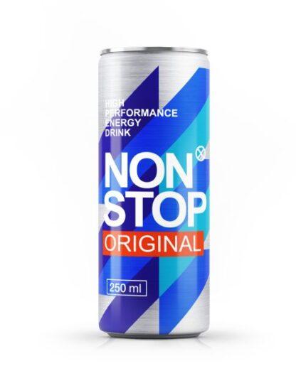 Напій NON STOP ORIGINAL безалкогол. енергетичний сильногаз. з/б 0.250 л., пак