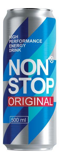Напій NON STOP ORIGINAL безалкогол. енергетичний сильногаз. з/б 0.500 л., пак