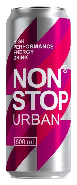 Напій NON STOP URBAN безалкогол. енергетичний сильногаз. з/б 0.500 л., пак