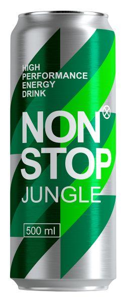 Напій NON STOP JUNGLE безалкогол. енергетичний сильногаз. з/б 0.500 л., пак