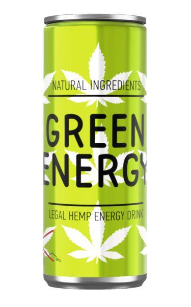 Напій GREEN ENERGY безалкогол. енергетичний сильногаз. з/б 0.250 л., пак