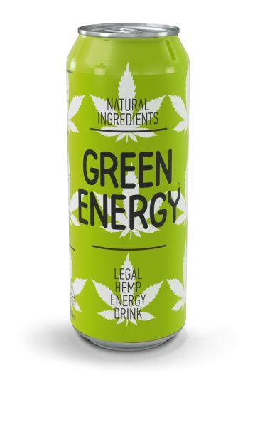 Напій GREEN ENERGY безалкогол. енергетичний сильногаз. з/б 0.500 л., пак