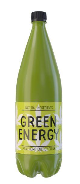 Напій GREEN ENERGY безалкогол. енергетичний сильногаз. ПЕТ 1.000 л., пак