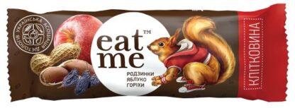 Батончик EAT ME родзинки-яблуко-горіхи у шоколаді 0.030 кг, пак