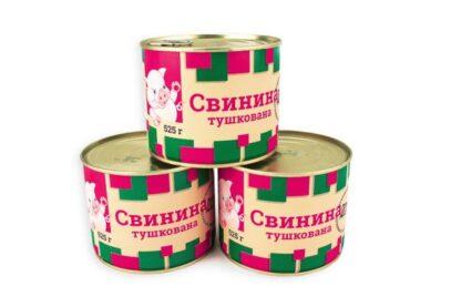 Консерва м'ясна П'ЯТАЧОК Свинина тушкована ж/б (ключ) 0.525 кг, пак
