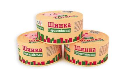 Консерва м'ясна П'ЯТАЧОК Шинка Переяслівська ж/б 0.325 кг, пак