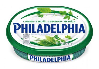 Крем-сир PHILADELPHIA з зеленню 0.175 кг, пак