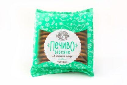 Печиво Богуславна Вівсяне з насінням льону 0.400 кг, пак