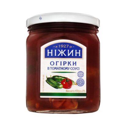 Огірки НІЖИН в томатному соусі с/б 0.450 кг, пак