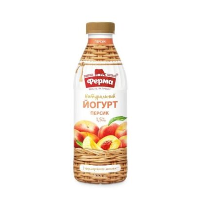 Йогурт ФЕРМА персик 1,5% ПЕТ 0.820 кг, пак