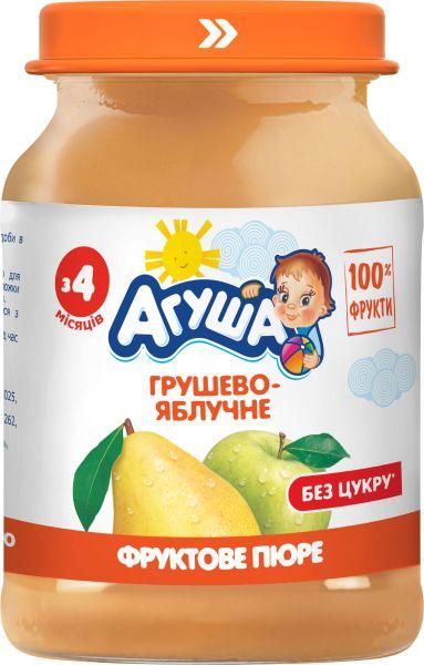 Пюре фруктове АГУША грушево-яблучне 0.190 кг, пак