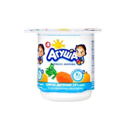 Сирок дитячий АГУША з наповнювачем абрикос-морква 3,9% жиру стакан 0.100 кг, пак
