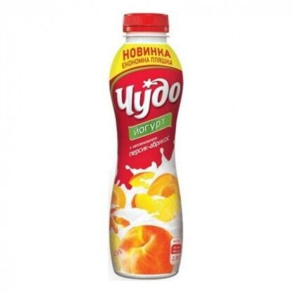 Йогурт ЧУДО з наповнювачем персик-абрикос 2,5% 0.540 , пак