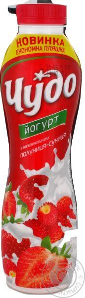 Йогурт ЧУДО з наповнювачем полуниця-суниця 2,5% 0.540 кг, пак