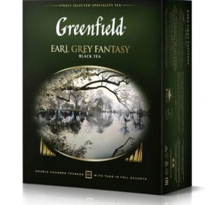 Чай Greenfield чорний Earl Grey Fantasy 100шт*2г 0.200 кг, пак