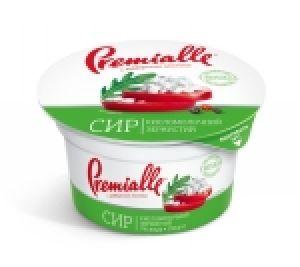Сир зернистий Premialle 7% стакан 0.150 кг, пак