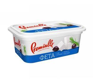 Сир Фета Premialle 45% пластик. короб 0.230 кг, пак