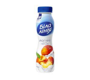 Йогурт БІЛА ЛІНІЯ персик 1,5% ПЕТ 0.250 кг, пак