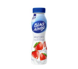 Йогурт БІЛА ЛІНІЯ полуниця 1,5% ПЕТ 0.250 кг, пак