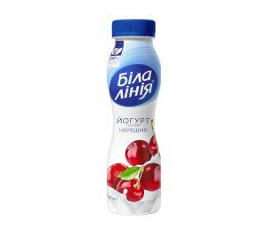 Йогурт БІЛА ЛІНІЯ черешня 1,5% ПЕТ 0.250 кг, пак