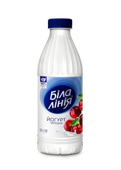 Йогурт БІЛА ЛІНІЯ черешня 1,5% ПЕТ 0.820 кг, пак