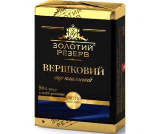 Сир плавлений ЗОЛОТИЙ РЕЗЕРВ Вершковий 50% у фользі 0.090 кг, пак