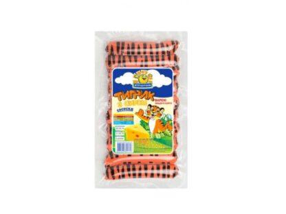 Сосиски ЯТРАНЬ Тигрик з сиром в/с 0.385 кг, пак