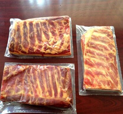 Свинина грудинка АРЛЕ Карпаччо сирокопчена (пластом) в/с в/у ~1 кг, кг