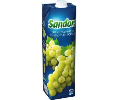 Сік Sandora виноградний білий 0.950 л., пак